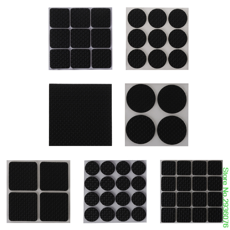 New Best Self Adhesive Anti-Slip Furniture Pad Stopper Rubber Feet Floor Protector Drop Shipping