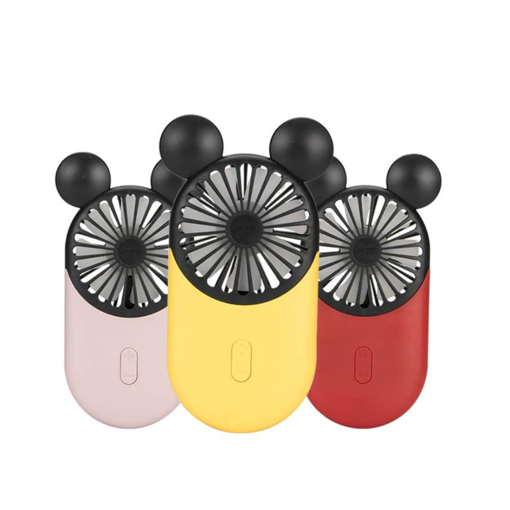 2019 Mini Fan USB Charging LED Mini Pocket Handheld Fan Three Speeds Optional For Home Office Traveling Mickey Mouse For Kids