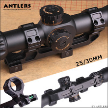 Rifle Optic Scope Mount 25.4mm/30mm Rings with Bubble Level fit 20mm Picatinny Rail for Tactical Gun AR15 Hunting