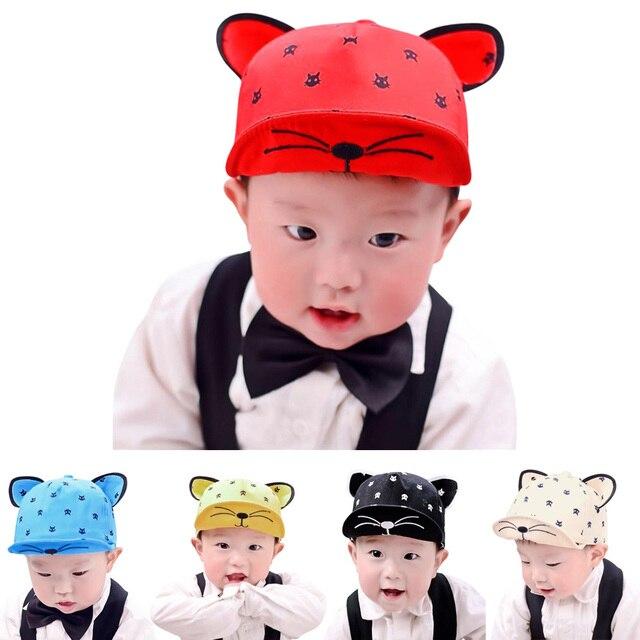 f81a4dfb0f3 2018 Cotton Baby Hats With Ears Beard Cartoon Kids Baseball Cap Baby Boys  Girls Children Spring Summer Autumn Hip Hop Hat