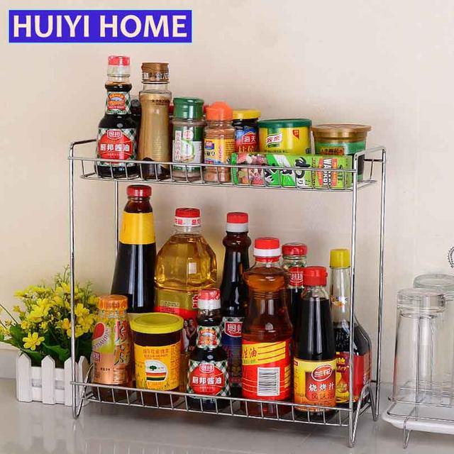 Online Shop Huiyi Casa Doppi Strati Portaspezie Cucina In Metallo ...