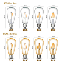 Dimmer Vintage Filament LED Lamps E27 E14 220V Ampoule LED Bulbs Edison Light Home Decoration ST64 A60 C35 E26 E12 110V Dimmable