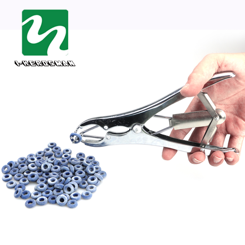 PROFESSIONAL ELASTRATOR Rubber Ring Applicator Farm Castrating PLIERS Silver