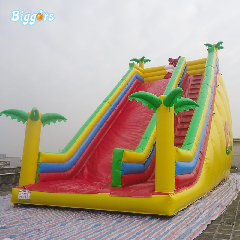 Inflatable tropical water slide jungle inflatable slide for kids with air blowers 91pcs fire helicopter children educational assembled diy model kids toys gift building blocks brick 9206