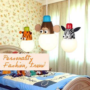 Image 3 - Novelty LED Bulb Light Cartoon Animal Monkey Zebra Giraffe Children Kids Bedroom Pendant Lamp Hang Pendent Light Sleeping Light