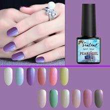 Beateal 8ML Pearl Gel Varnish Semi Permanent Manicure Nail Polish UV Led Long Lasting shell Set Lacquers