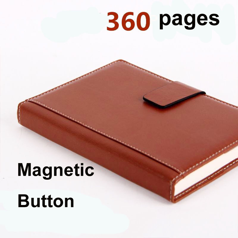2017 B5 A5 Super diary thick note book business stationery office leather notebook creative book commercial gifts agenda journal недорого