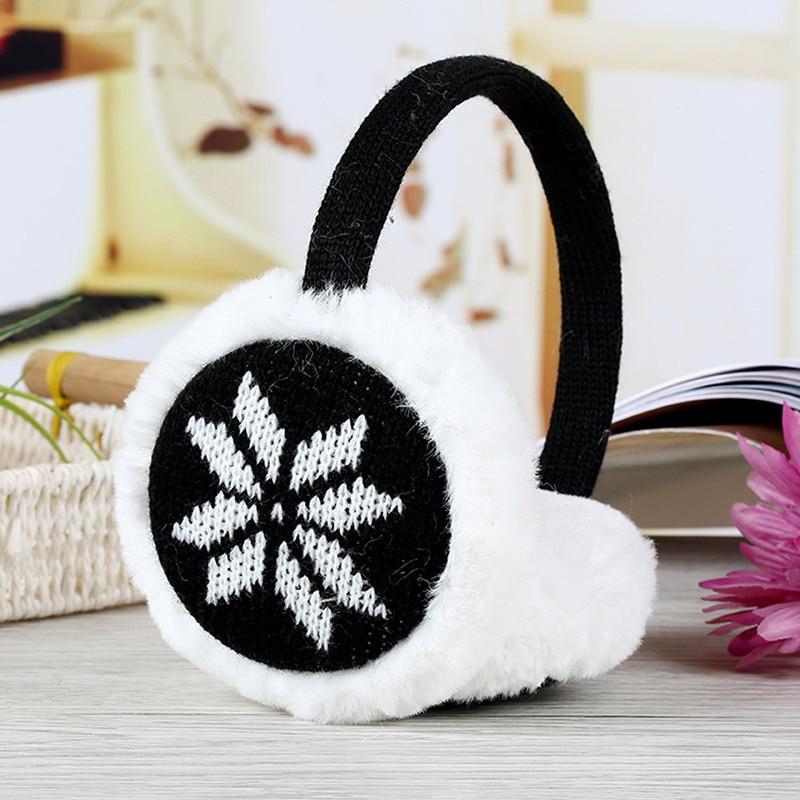 New 1PC Women Winter Warm Earmuffs Comfort FawnThickening Plush Earmuffs Snowflake Winter Accessories