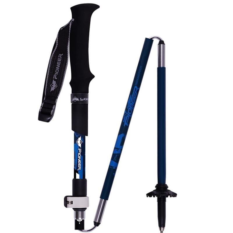 PIOMEER Carbon Fiber Trekking Walking Poles Folding Adjustable Camping Climbing Skiing Hiking Sticks Poles 35 130cm