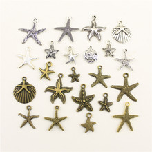 Charms For Jewelry Making Sea Creatures Small Starfish Shells Accessories Parts Creative Handmade Birthday Gifts(China)