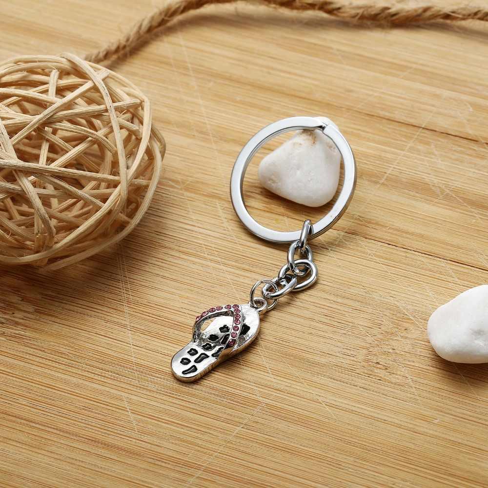 תמיד בצד שלך נעל קריסטל תליון Keyring מפתח Fob טביעת רגל Paw הדפסת Keychain תכשיטי בעלי החיים אוהבי תיק מפתח טבעת מתנה