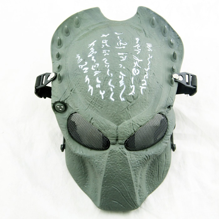 ZJZ04 Military Tactical Predator Wolf Full Face Protective Airsoft Mask Army Paintball Wargame Cosplay Halloween Party