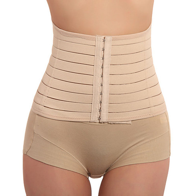 80cb9909dd969 Khaki Waist Trainer Body Shaper Women Underbust Corset Slimming Belt Waist  Cincher Langerie Feminina