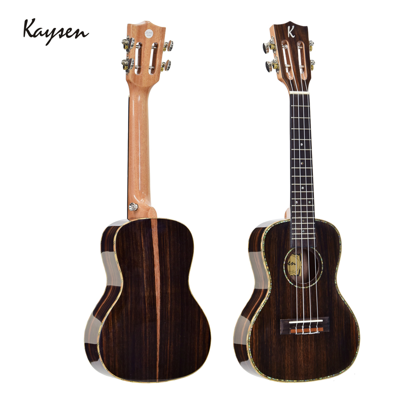 Kaysen 23 Inch Ukulele Hawaii Guitar 4strings Ukulele Concert High Gloss Top Quality Ebony For Kids Gift Ukelele Uke JUK04