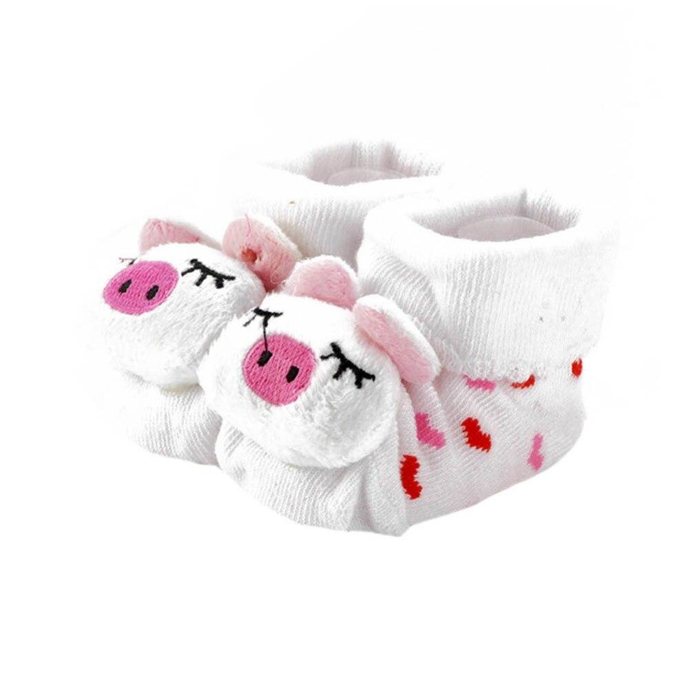 Новые зимние животных прекрасный мультфильм Детские носки Обувь хлопковые пинетки унисекс для детей Сапоги и ботинки для девочек 0-10 м