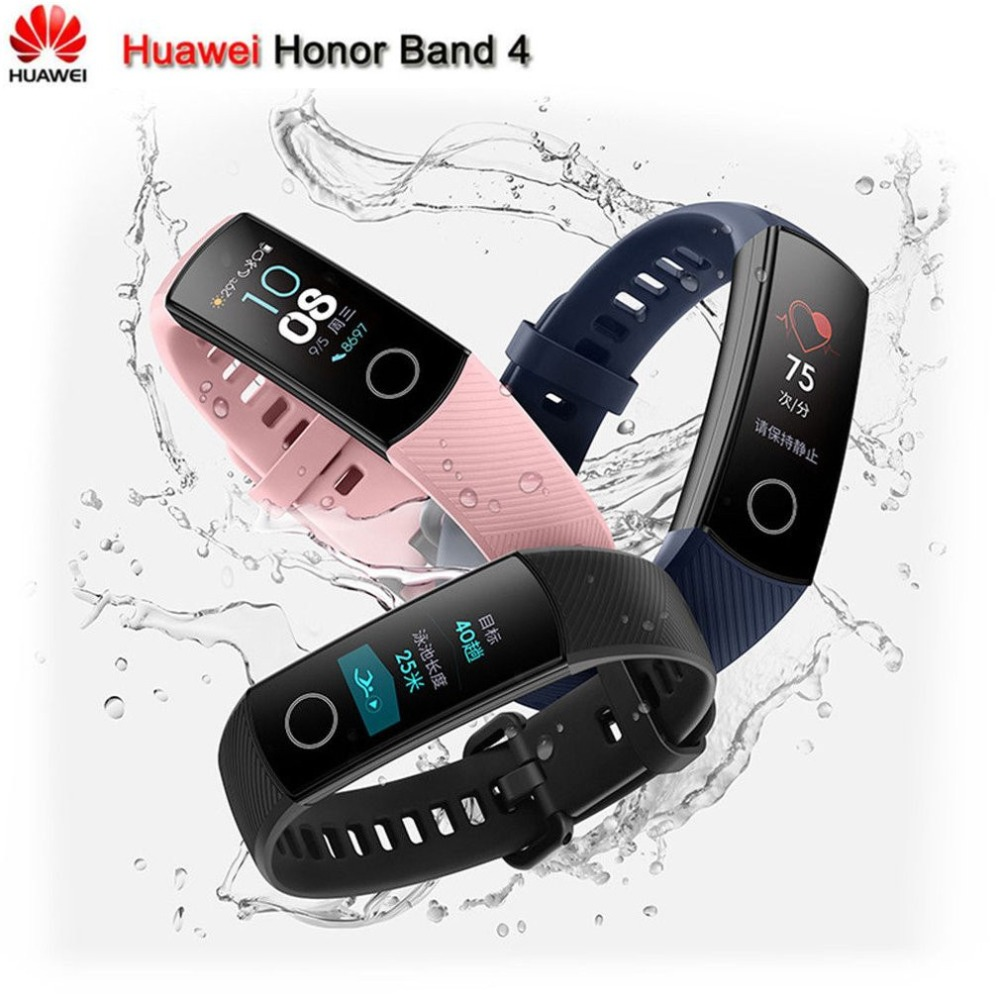 Original Huawei Honor Band 4 Smart Armband 2.5D Glas Touch Screen Bluetooth Heart Rate Monitor Unterstützung Android und IOS
