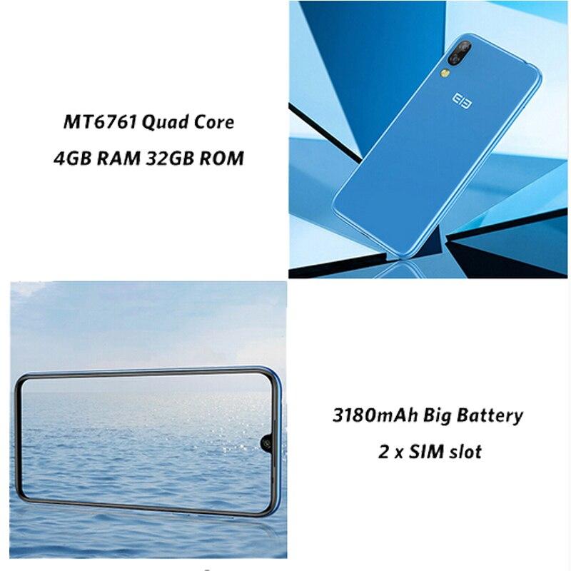 Elephone A6 Mini Android 9,0 MT6761 четырехъядерный смартфон 5,71 дюймов экран капли HD + 4 ГБ 32 ГБ/64 Гб 16 МП 3180 мАч мобильный телефон - 5