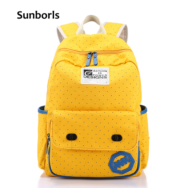 Sunborls Canvas Backpack Women School Bags for Teenage Girls Cute Bookbags  Travel Wave Laptop Stylish Backpacks Female Mochila 07b027bd37