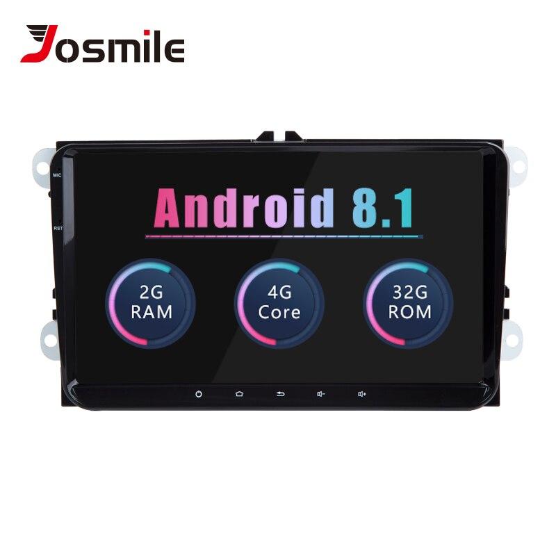 Josmlie AutoRadio 2din Android 8.1 Voiture Multiedia Pour VW Passat B6 CC Amarok Volkswagen Skoda Octavia 2 Superbe 3 Siège leon Golf56