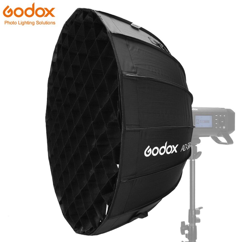 Godox Dome Parabolic Softbox AD-S65S 65cm/25.6inch Specialized Accessories For Godox AD400Pro Flash Silver Interior Godox Mount