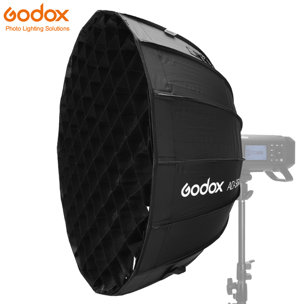 Godox Dome Parabolic Softbox AD S65S 65cm/25.6inch Specialized Accessories for Godox AD400Pro Flash Silver Interior Godox Mount