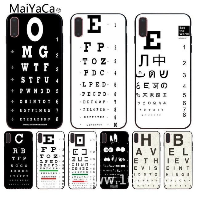 MaiYaCa Funny Eye diagram for iPhone 4S SE 5C 5S 6S 7 8 Plus X XR XS