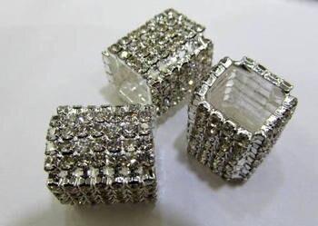 12pcs 15-20mm Pave Micro CZ crystal Pave Bling Beads White silver crystal CZ Bead,Black Gunmetal cube square box brick charm jew