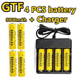 Gtf 18650 battery 4 pc set 3 7v li ion 9800mah rechargeable battery with charging dock.jpg 250x250