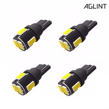 Aglint 4 Pcs Automotive Levert T10 W5W 194 168 2825 501 Led 5730 Smd Auto Interieur Verlichting Leeslamp Kofferbak Lamp wit 6000K(China)