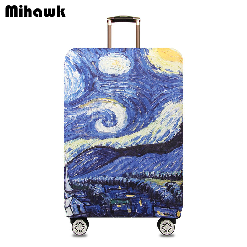 mihawk-waterproof-starry-sky-travel-luggage-cover-elastic-trolley-suitcase-women's-men's-protect-dust-case-accessories-supplies