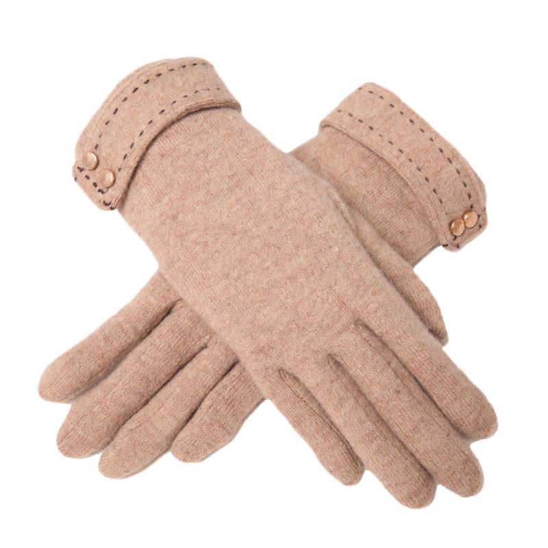 4 Pairs Unisex Knitted Gloves Autumn Winter Models Solid Color Five Fingers
