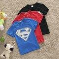 Baby Boys Superman T Shirt Boy Summer T-shirt Kids Cotton Tee Tops 20E