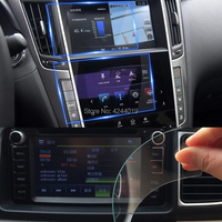H9 Anti Fingerprint GPS Navigation Screen Protectors Sticker Car DVD Protective Film Tempered Glass For Infiniti Q60 2017