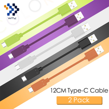 WMZ 2Pack Type-C Cable 12CM Fast Charging&Data Transmission Sync Reversible USB-C 2.0 for Xiaomi 4C 5 6 ZUK Z1 One Plus 3T