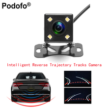 Podofo автомобилей заднего вида Камера интеллектуальные динамические траектории треков заднего вида Камера HD 170 градусов обратный резервный Камера