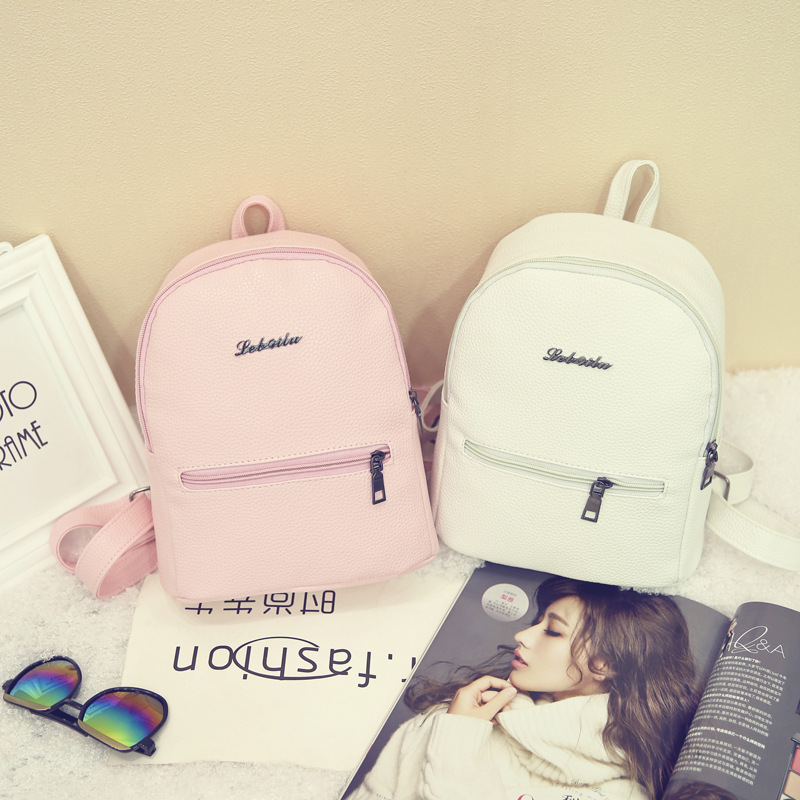 Women Casual Travel Backpack Preppy Style PU Schoolbag Backpacks for teenager girls back pack