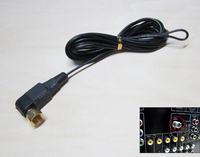 3 Meters Gold Plated Screw FM Indoor Antennas Male F Connector 75 Ohm Aerial Suitable For