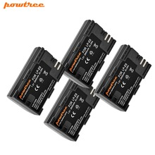 Powtree For Canon 4PCS 2800mAh 7.2V LP-E6 LP E6 LPE6 Rechargeable Camera Battery For EOS 5D Mark II 5D Mark III 6D 7D 80D XC10 pixel vertax e6 battery grip for canon 5d mark ii camera as bg e6