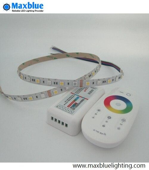 RGBW/RGBWW Светодиодные ленты огни 5 м DC12V 300 шт. 5050smd светодиодный лента с 2,4 ГГц RGBW Wi Fi контроллер комплект