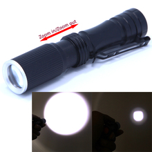 Mini Flash Torch CREE Q5 600 Lumens 3 Modes LED Flashlight Zoomable Waterproof Torch Tactical Portable Camping Lantern AA