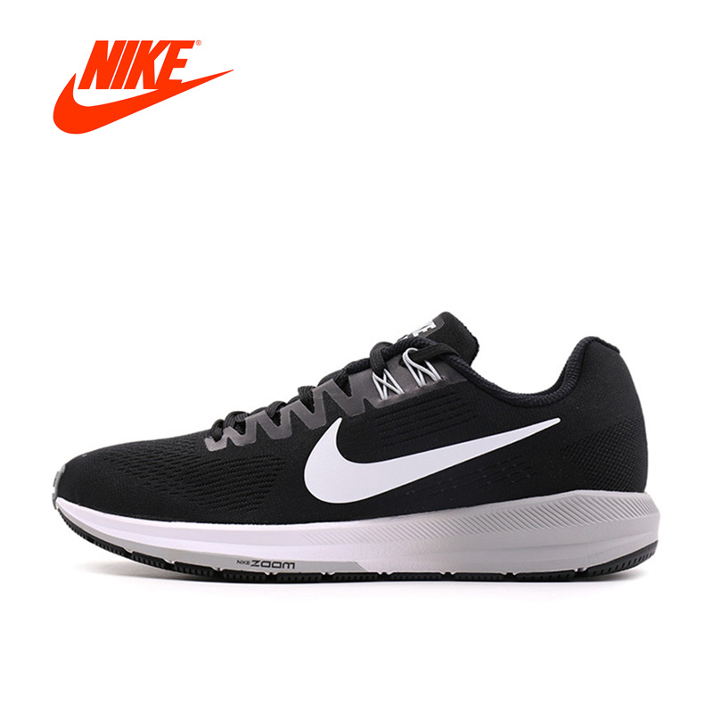 Original New Arrival Official Nike AIR ZOOM STRUCTURE 21 Breathable Men's Running Shoes Sports Sneakers