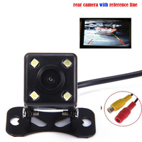 Parking Assistance System Universal HD CCD 4 LED Night Vision Car Rear View Camera Backup Side