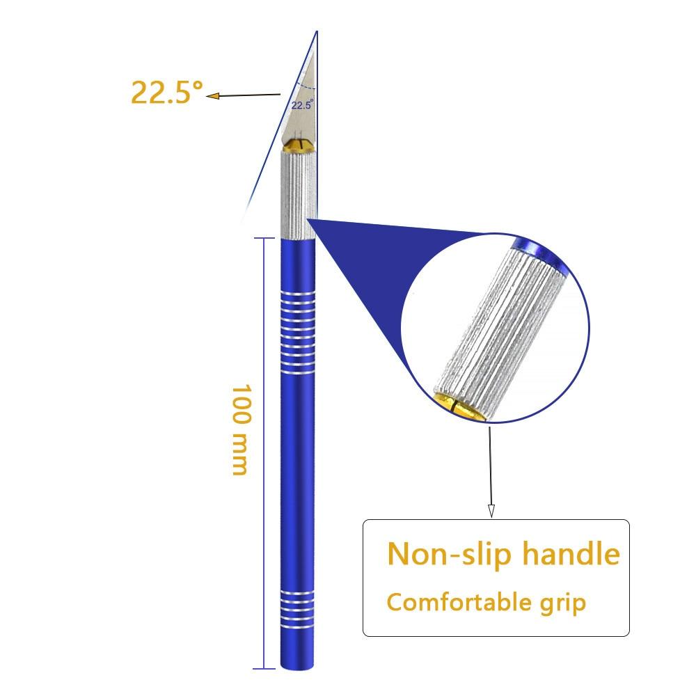 NEWACALOX Coltello hobby di precisione 19PCS Lame in acciaio - Utensili manuali - Fotografia 3