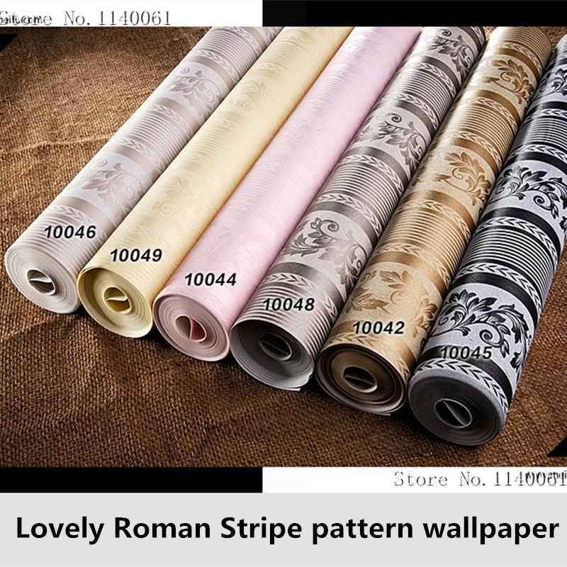 ФОТО Bedroom Wallpaper Christmas Home decorates Stripe Style Wallpaper yellow gray black pink Color Stripe Wallpaper Wall Paper Roll