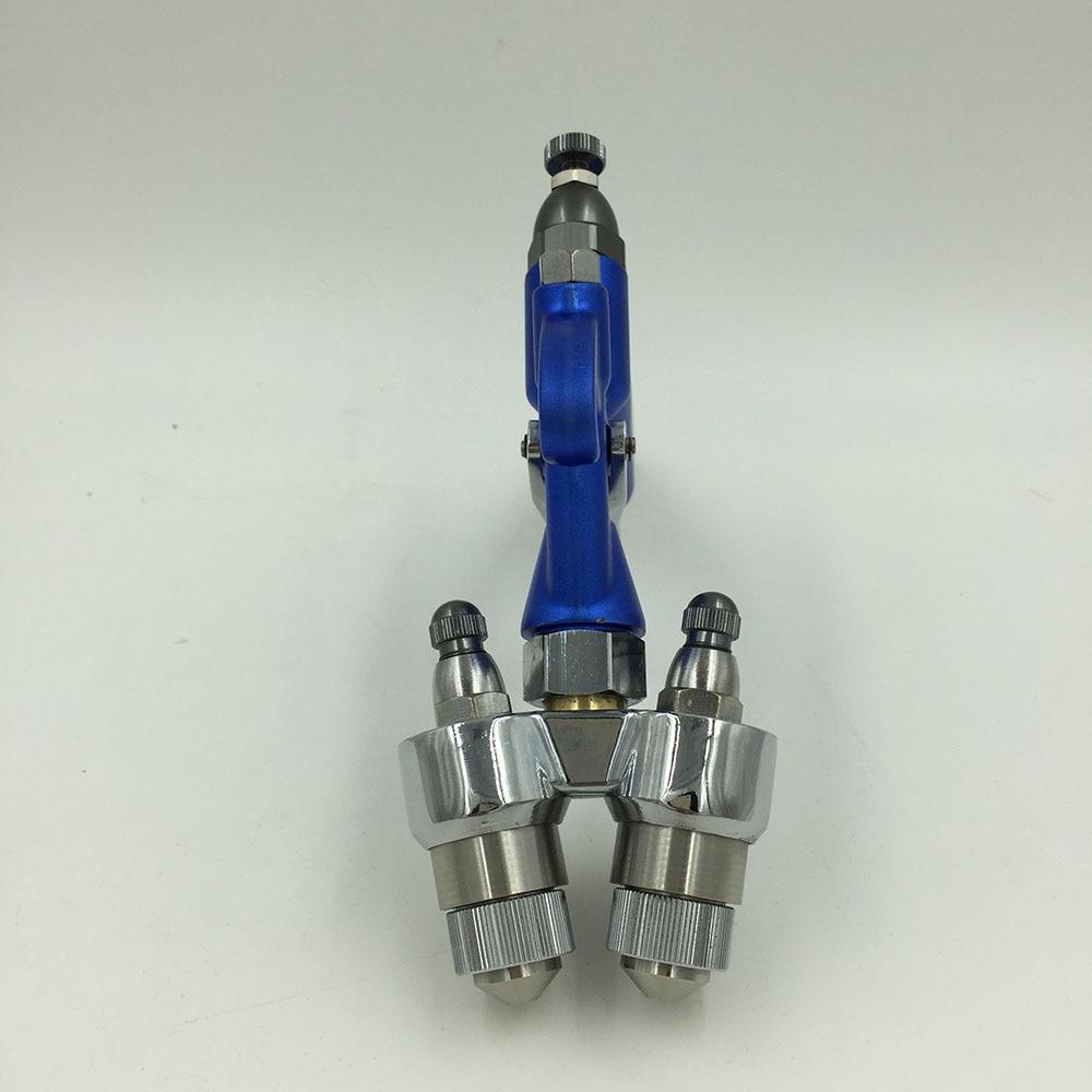 SAT1201 pistolas de pintura de carros de alta pressão bocal duplo casa de spray arma pistola de pintura em spray tipo de alimentação de pressão de pintura arma