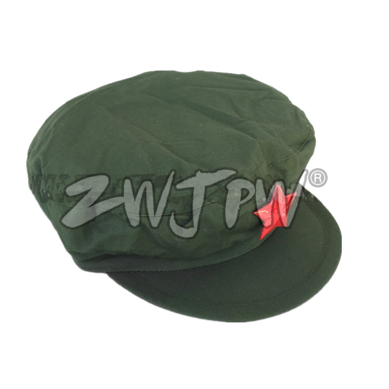 US $13 99 |Surplus Original Vietnam War Chinese Military Cap Type 65  Liberation Army Hat With Red Star CN/401233-in Fishing Caps from Sports &