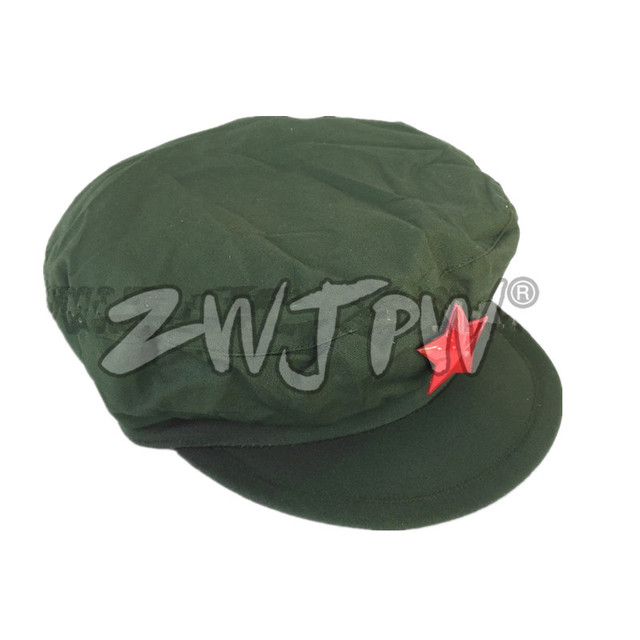 Surplus Original Vietnam War Chinese Military Cap Type 65 Liberation Army  Hat With Red Star CN 401233 1c35e3426ba