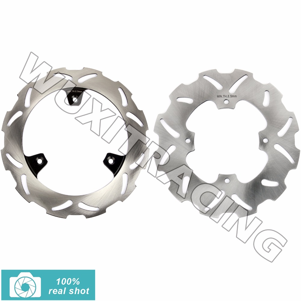 2pcs Full Set Front Rear Brake Discs Rotors for YAMAHA YZ 80 YZ80 1990-2001 91 92 93 94 95 96 97 98 99 00 YZ 85 YZ85 2002-2016 94 95 96 97 98 99 00 01 02 03 04 05 06 new 300mm front 280mm rear brake discs disks rotor fit for kawasaki gtr 1000 zg1000