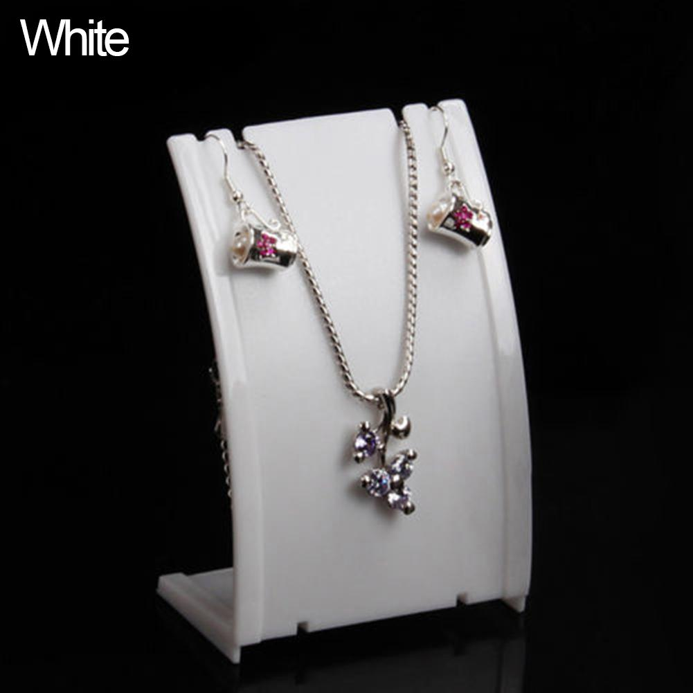 Pendant Necklace Chain Earring Bust Neck Shape Plastic Display Stand Showcase Boho
