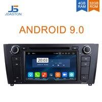 JDASTON Android 9,0 автомобиль электронный Радио стерео ВИДЕО DVD плеер для хэтчбеков BMW серий 1 E81 E82 E88 gps навигации радио мультимедиа